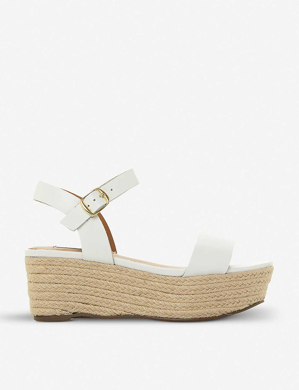 d691393dd ... Busy SM leather and jute platform sandals - Whiteleather ...