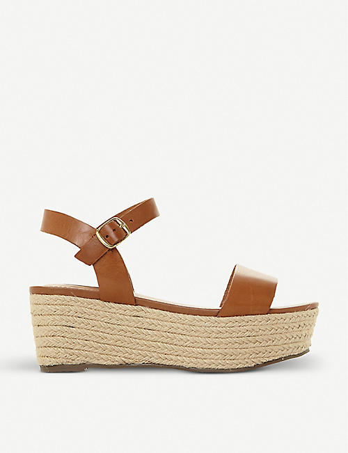 ed4b8228a48 STEVE MADDEN - Busy SM leather and jute platform sandals ...