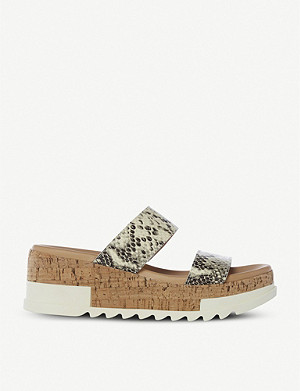 STEVE MADDEN Blaine snakeskin-embossed leather sandals