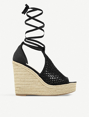 a9d610f9a05 STEVE MADDEN - Busy SM leather and jute platform sandals ...
