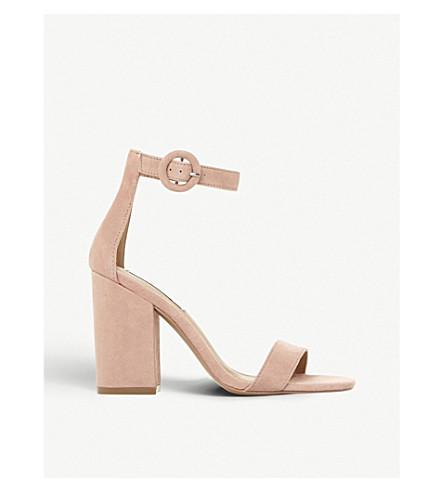 STEVE MADDEN Friday block heel suede sandals (Nude-suede