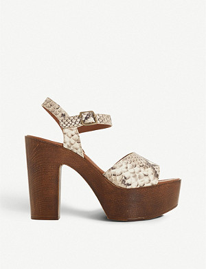 855085ca6c9 STEVE MADDEN - Stecy metallic faux-leather and diamanté sandals ...