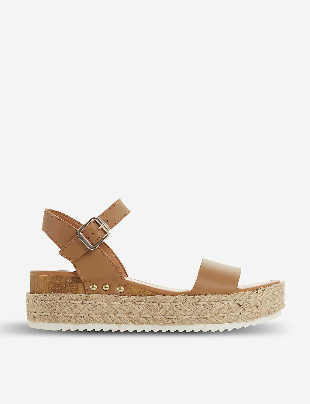 07f038dc8e STEVE MADDEN - Chiara leather flatform sandals   Selfridges.com
