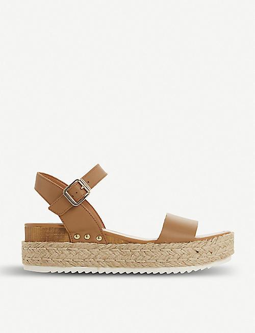 dbca27d65e6e STEVE MADDEN Chiara leather flatform sandals