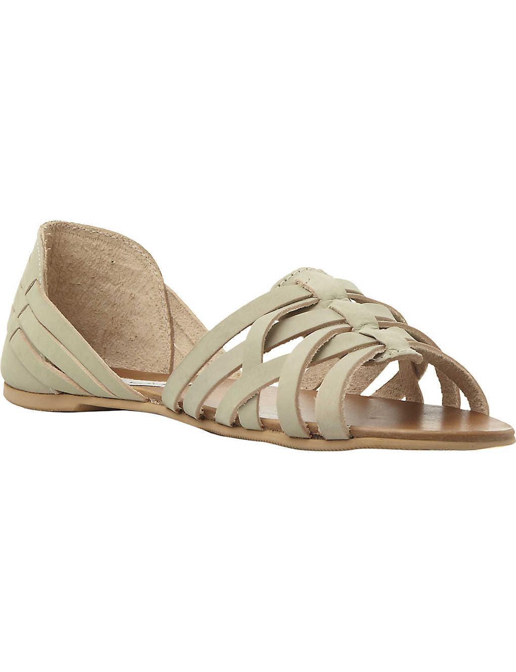 5d5e69a7dd5 STEVE MADDEN - Flute woven huarache leather flat sandals ...