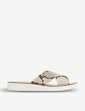 STEVE MADDEN Trent crossover white-sole sliders