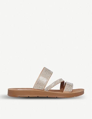 STEVE MADDEN Praise R diamante studded slider sandals