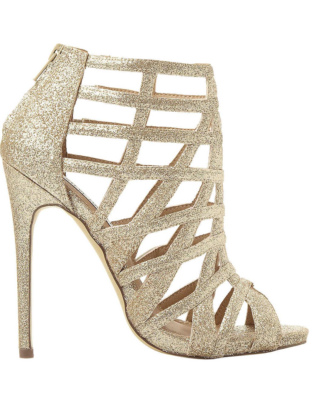 d995211f2e7 STEVE MADDEN - Caged glitter heeled sandals   Selfridges.com