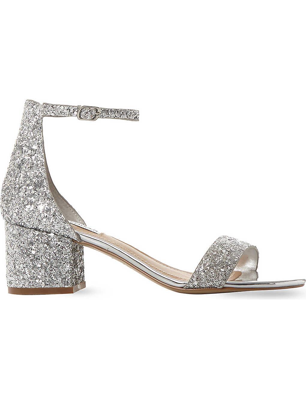 8aff91d7376 STEVE MADDEN - Irenee glitter block heel sandals   Selfridges.com