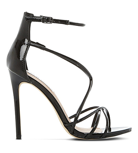 4f842b74d84 STEVE MADDEN Satire patent strappy sandals (Black-patent