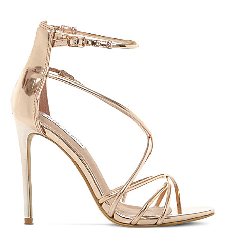 0d305646c02 STEVE MADDEN Satire metallic strappy sandals (Rose+gold-synthetic