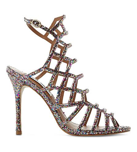 Steve Madden Caged Glitter Heeled Sandals Selfridgescom