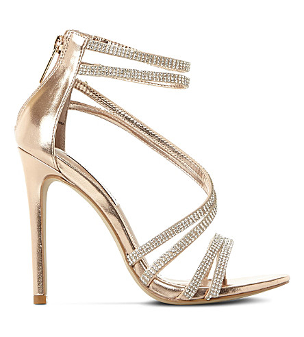 ... Sweetest embellished heeled sandals (Rose+gold-leather. PreviousNext 31f5df5e36b3