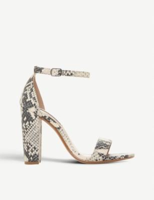 cf6c6f9ce57 STEVE MADDEN Carrson snakeskin-embossed heeled sandals