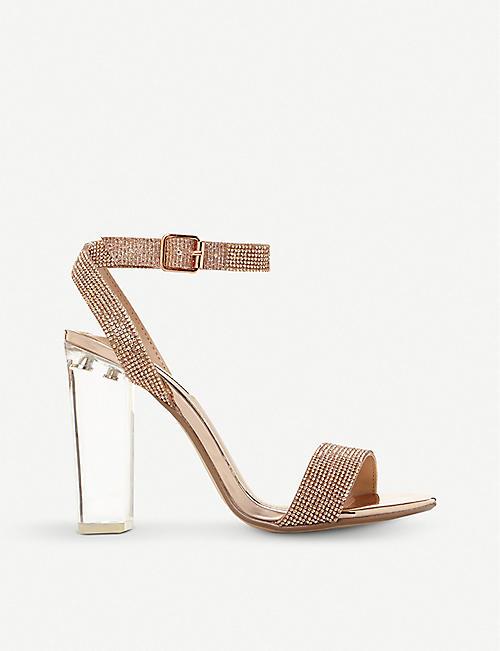 7e2a128a553 STEVE MADDEN Crysler crystal-embellished block heel sandals