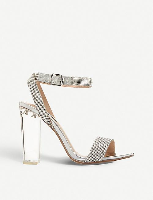 38866a924 STEVE MADDEN Crysler crystal-embellished block heel sandals