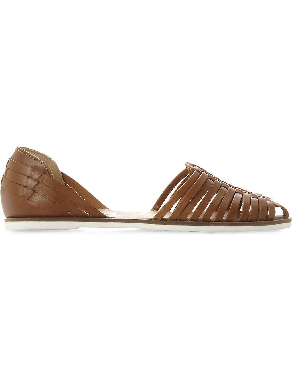 54c7bd95d81 STEVE MADDEN - Hillarie leather huarache sandals | Selfridges.com