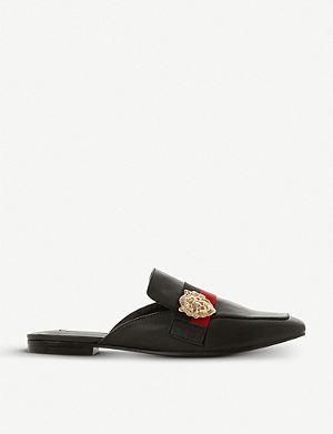 52c93cfe3f6 STEVE MADDEN Karisma lion-detail backless leather loafers