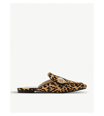802884d8d62 STEVE MADDEN - Karisma leopard-print backless loafers