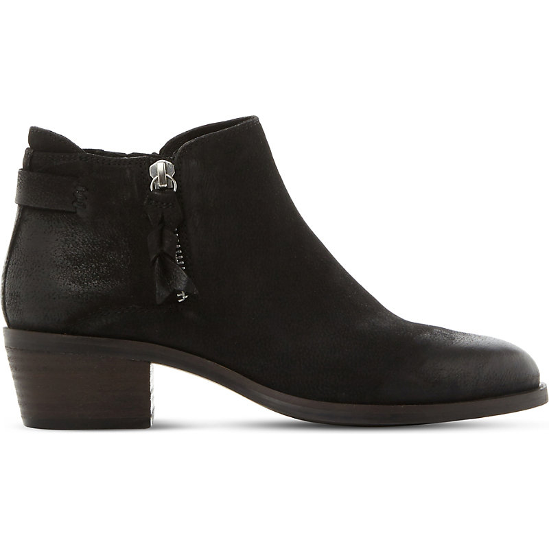 STEVE MADDEN | Steve Madden Ladies Black Casual Kyle Suede Heeled Ankle Boots, Size: EUR 36 / 3 UK WOMEN | Goxip