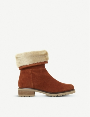 STEVE MADDEN Driller suede and faux-fur boots