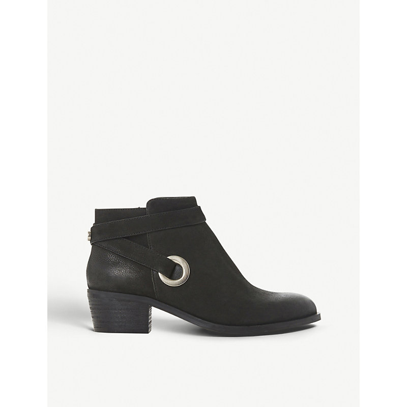 STEVE MADDEN | Owald Cross-Strap Leather Ankle Boots | Goxip