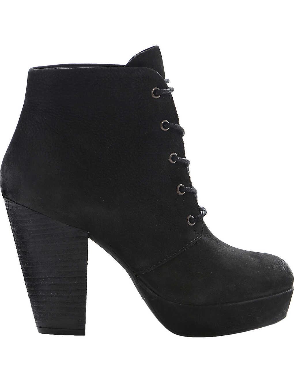 9be23f38c94 STEVE MADDEN - Raspy leather lace-up boots | Selfridges.com