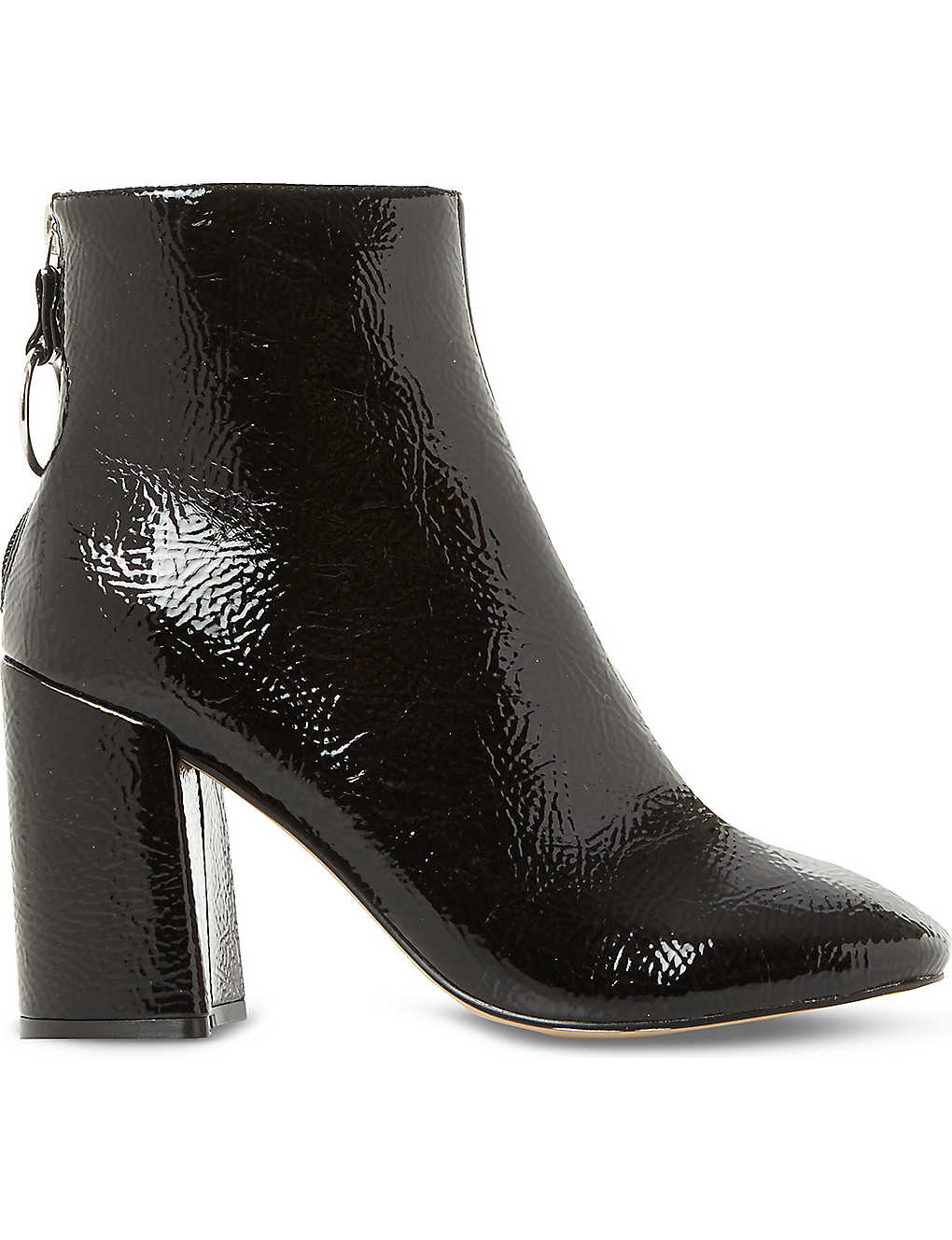 2ecc6321e3c STEVE MADDEN - Posed patent-effect heeled ankle boots | Selfridges.com