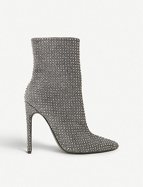 5224dc13f19 STEVE MADDEN Wifey rhinestone-embellished ankle boots