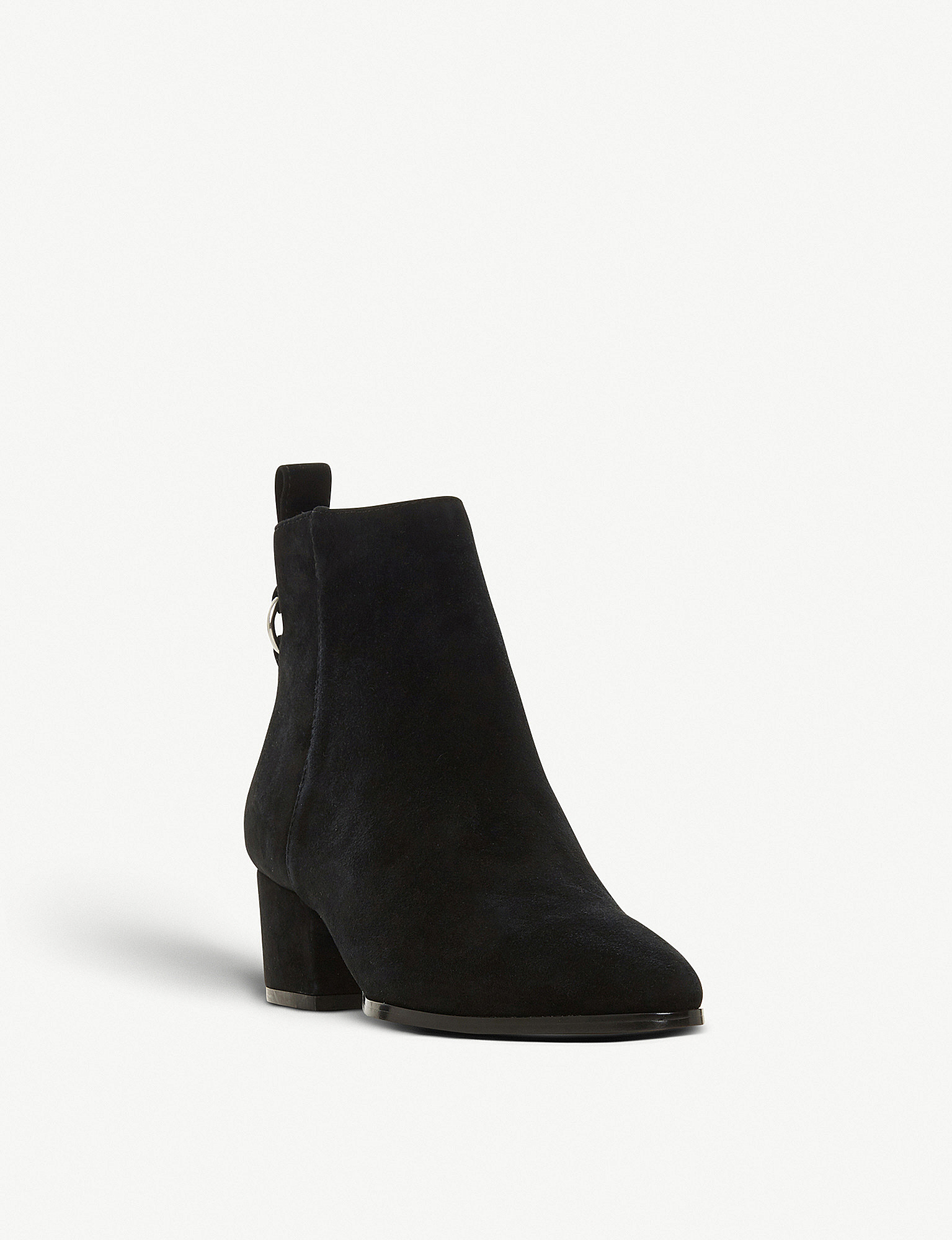 6f5a06ff318 STEVE MADDEN - Clover ring-detail suede ankle boots