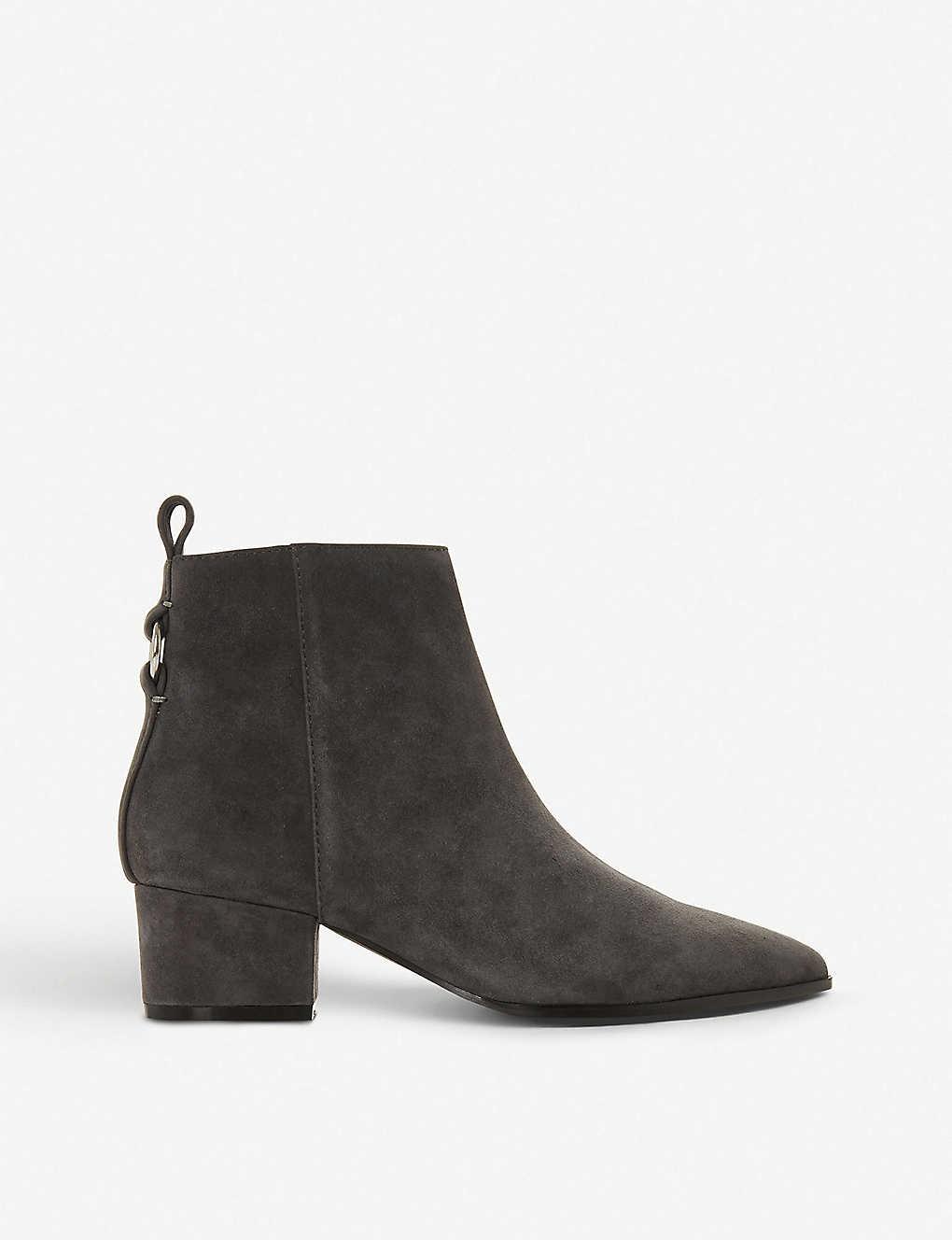623a291cd14 STEVE MADDEN - Clover ring-detail suede ankle boots | Selfridges.com