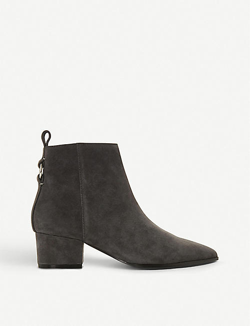 aa8152d487793 STEVE MADDEN Clover ring-detail suede ankle boots