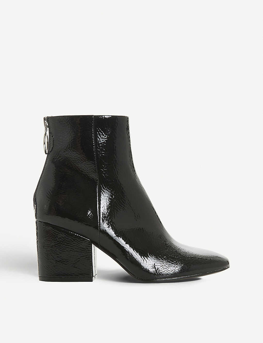 53eb0bce01a STEVE MADDEN - Break zip-detail patent ankle boots