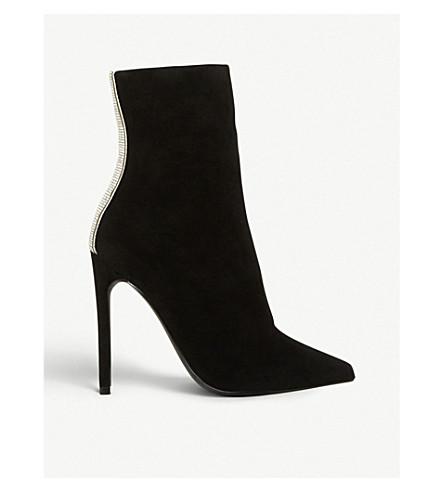 30772497ab6 Wagu rhinestone-embellished suede boots