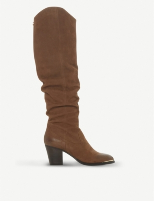 STEVE MADDEN Rova slouchy leather western boots