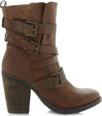 c9c0da34504 STEVE MADDEN - Yale heeled buckle ankle boots | Selfridges.com