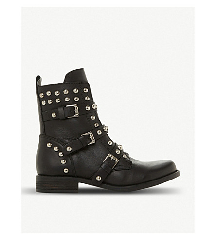 ff9f68644f8 Spunky stud and zip-detail leather boots