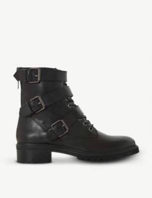 STEVE MADDEN Crost buckled leather boots