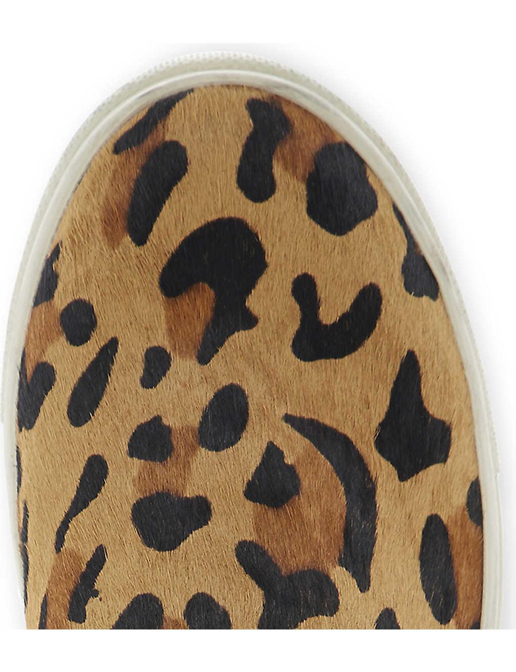 41741d48d56 STEVE MADDEN - Eccentric leopard print pony hair slip-on trainers ...