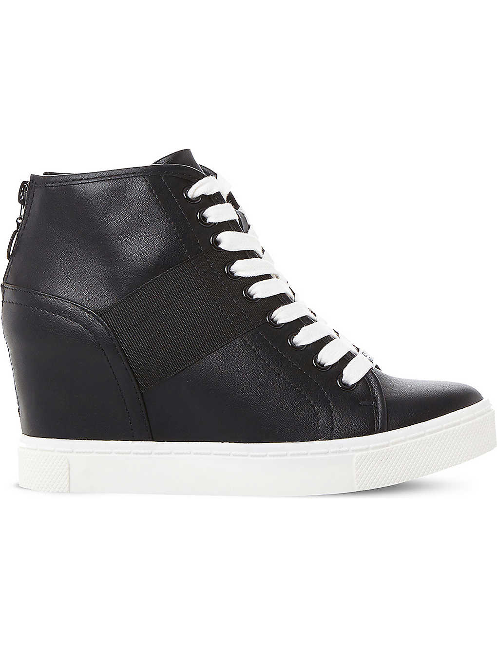 a352d7a813b STEVE MADDEN - Lussious lace-up wedge trainers   Selfridges.com