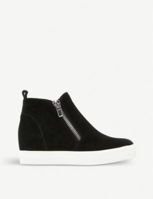 b00097ed700 Steve Madden Wedgie High Top Platform Sneaker In Grey Suede