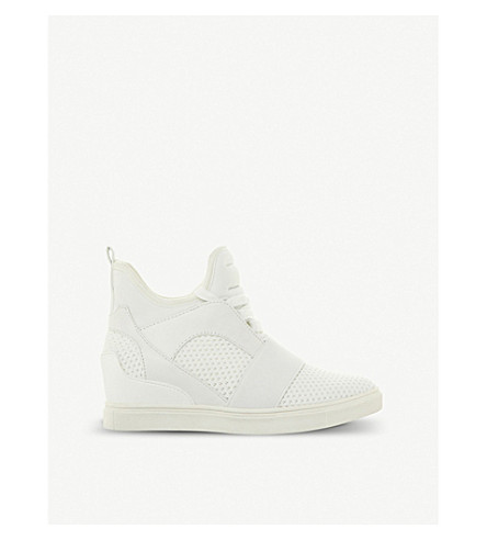 c7c954efe78 STEVE MADDEN Lexi flyknit high-top wedge trainers (White
