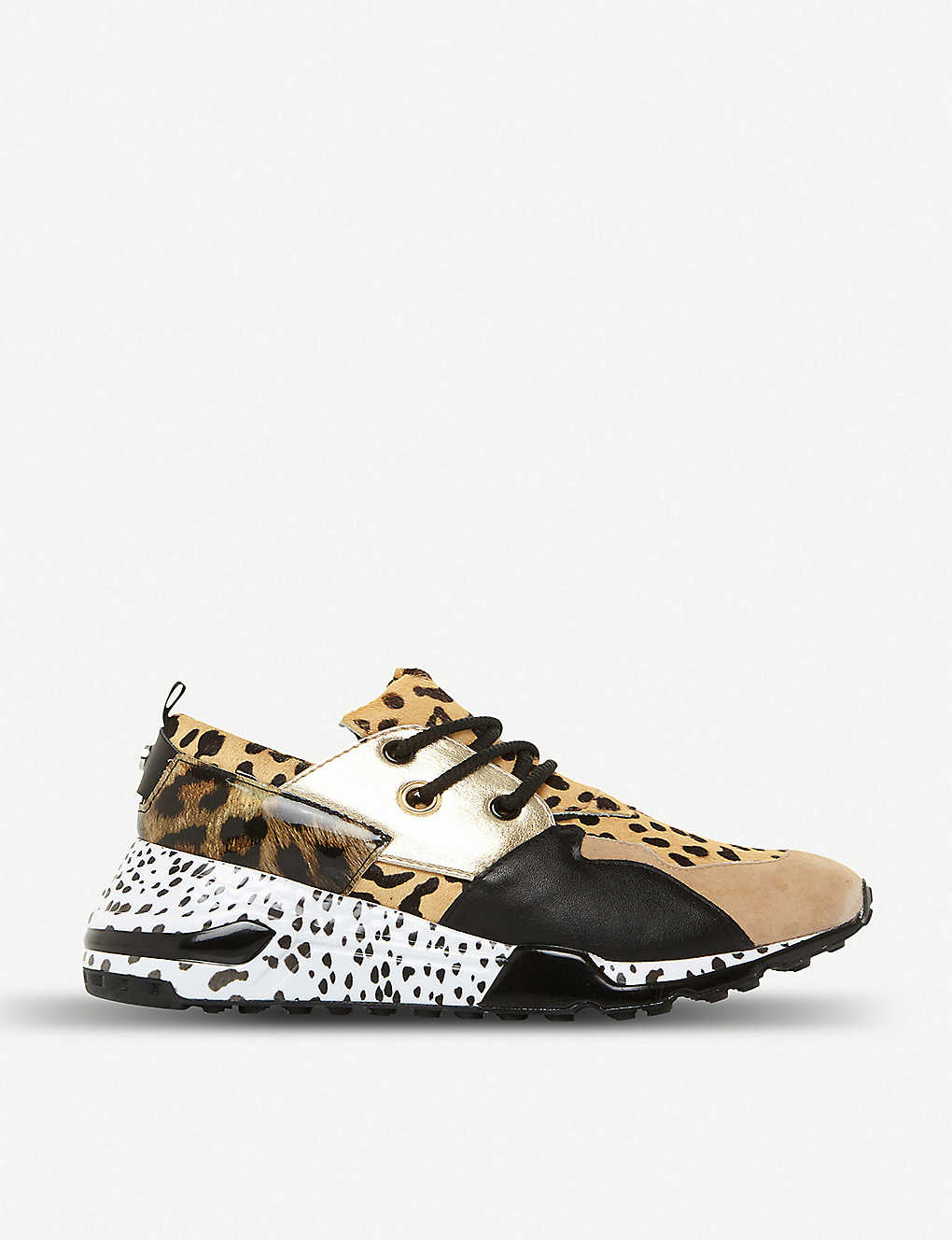 fee859f2a3e Cliff leopard-print suede and leather trainers