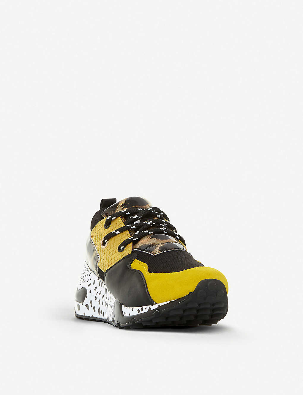 f9228cc4eb1 ... Cliff leather trainers - Yellowsynthetic ...