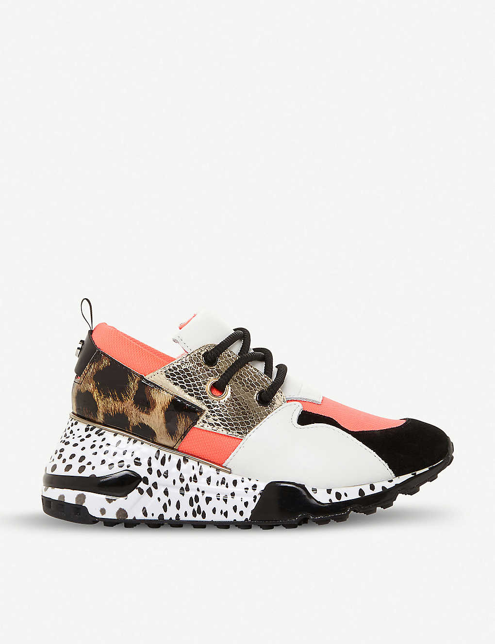 03e0e0abd8a Cliff flatform mixed-print leather trainers - Coralsynthetic ...