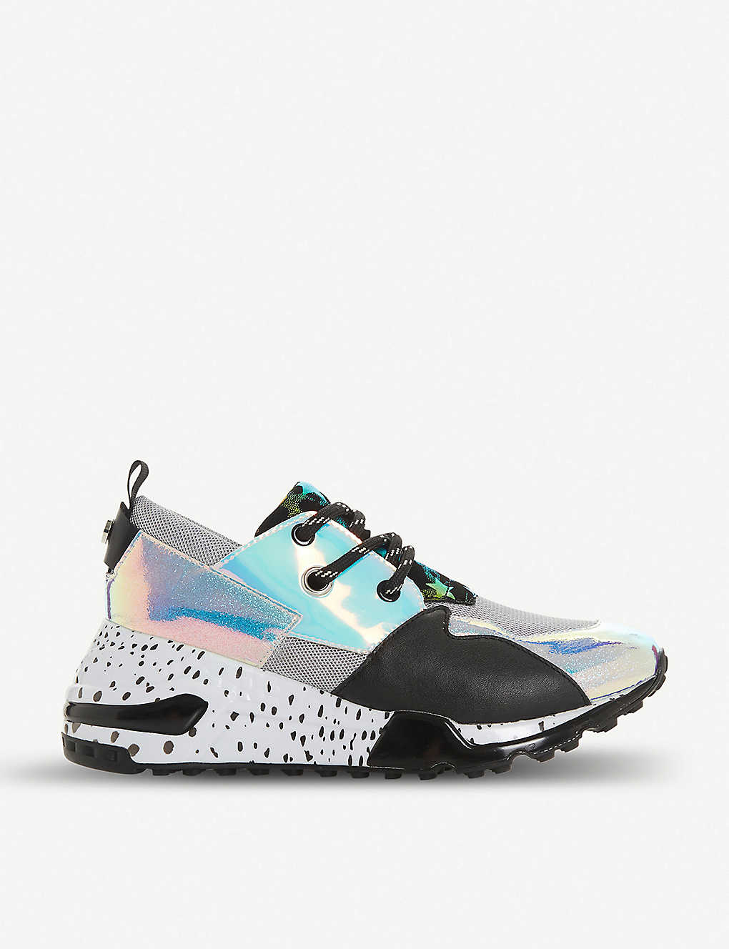 2c59cd354d2 Cliff flatform mixed-print leather trainers