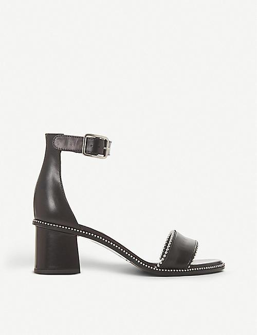 11b8a503cee5 DUNE BLACK Julietta mid-block studded heels