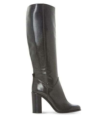 07a01d514c7 DUNE BLACK - Rana knee-high leather boots