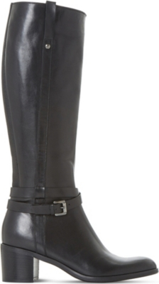 DUNE BLACK Timmie leather knee-high boots