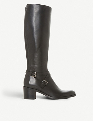 DUNE BLACK Torney knee-high leather boots